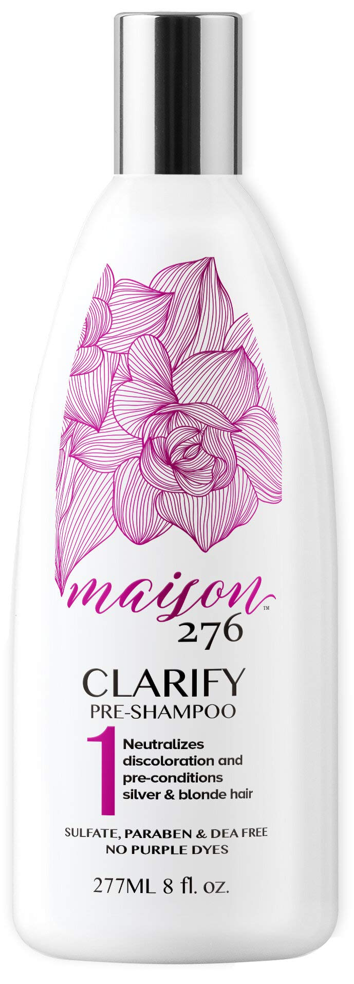 Maison 276 CLARIFY Pre-Shampoo Treatment for Silver, Gray, and Blonde Hair. Paraben, Sulfate, and DEA free. No Purple Dye. 8 oz.