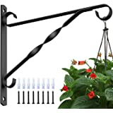 Amagabeli 4 Pack Hanging Plants Bracket 10'' Wall Planter Hook Flower Pot Bird Feeder Wind Chime Lanterns Hanger Patio Lawn G