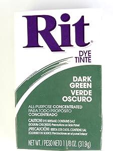 Rit Dye Powder Dye, 1-1/8 oz, Dark Green, 3-Pack