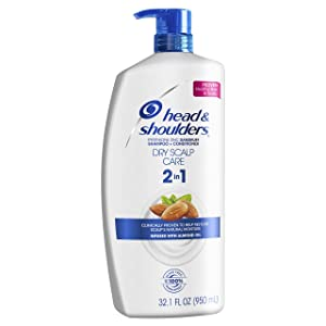 Head and Shoulders Dry Scalp Care with Almond Oil 2-in-1 Anti-Dandruff Shampoo + Conditioner 32.1 fl oz (Packaging May Vary)
