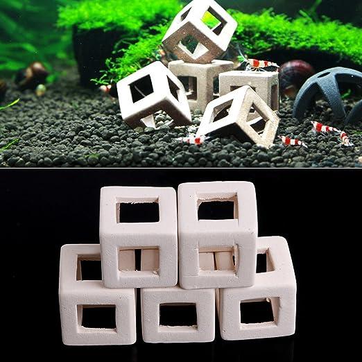 Jiamins 5 pcs Cave del Refugio Decoration Acuario - Imagen de Acuario cerámica Cueva de cría anguilas Peces pequeños: Amazon.es: Productos para mascotas