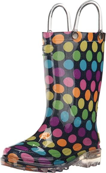 Western Chief Rainbow Lighted Girls/' Toddler-Youth Boot