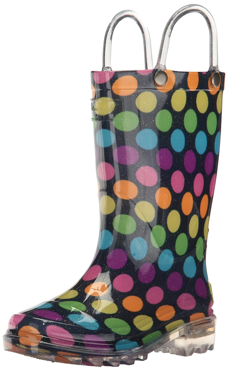 d265c1471e5 Western Chief Girls' Waterproof Rain Boots That Light up with Each Step