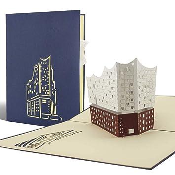 Diese Klappkarten Elbphilharmonie Pop Up Karten Gutschein Perfekte Verpackung Als Geschenk Reisegutschein Souvenir Reise Nach Hamburg A06