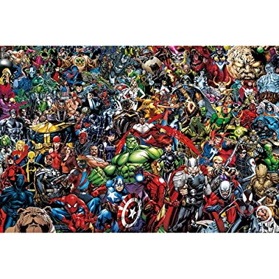 1000 Pieces Superhero Jigsaw Puzzles for Adults Kids,Premium Quality Parent-Child Toy Educational Toys: Toys & Games
