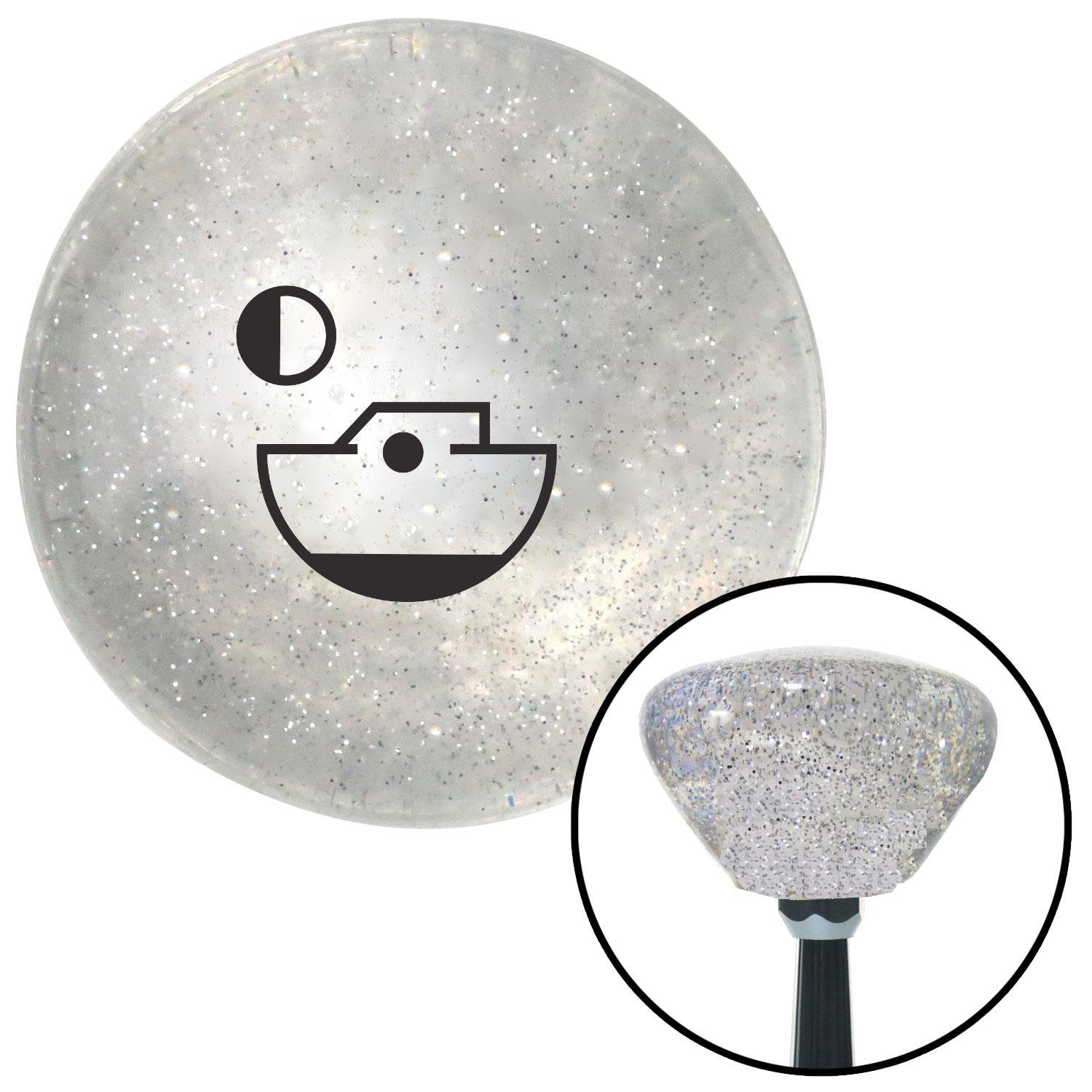 American Shifter 159475 Clear Retro Metal Flake Shift Knob with M16 x 1.5 Insert Black Boat and Moon