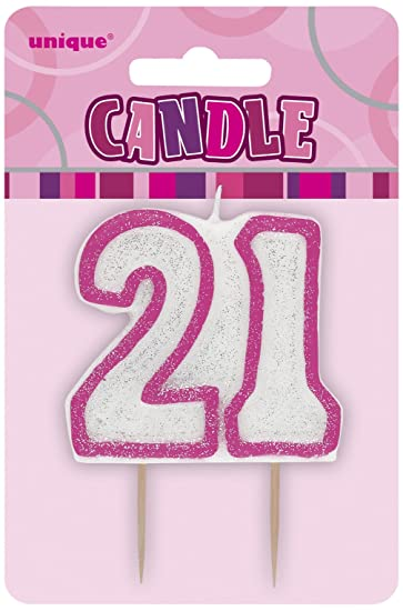 Amazon Unique Party Pink Number Candle