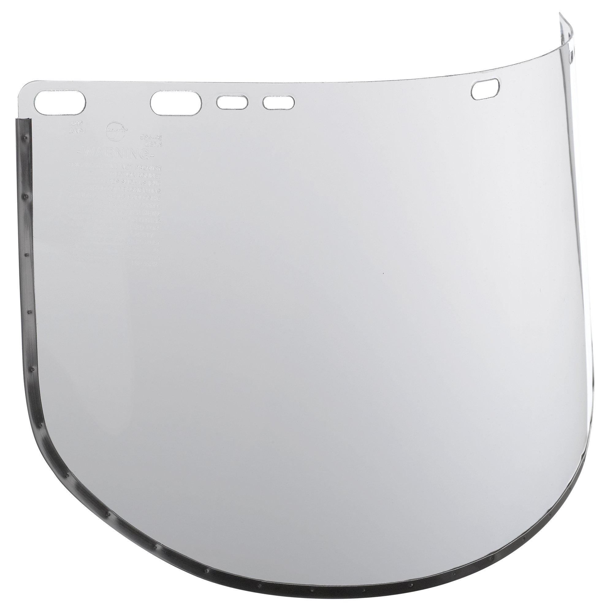 "Jackson Safety F30 Acetate Face Shield (29079), 9"" x 15.5"" Clear, Reusable Face Protection, 24 Shields/Case"