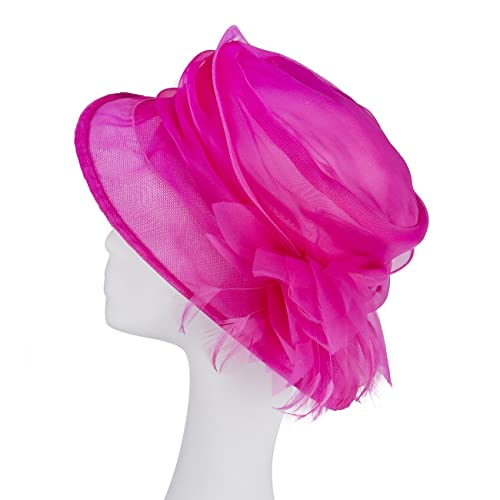 Janeojewels Formal Tocado Headwear gorro, mushroom-dish estilo, el sombrero de Elisabeth II, suave estructurado in organza-chiffon ala ancha y corsé.