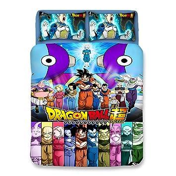 Bulk 3d Dragonball Z Goku Algodón Juego De Funda Nórdica