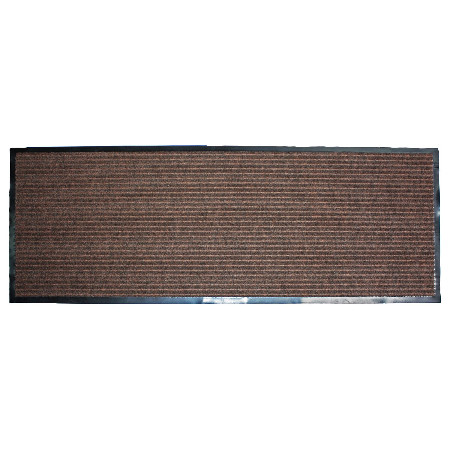 Rubber floor mats for house - J M Home Fashions Ribbed Runner Utility Mat 22 Inch By 60 Inch Brown