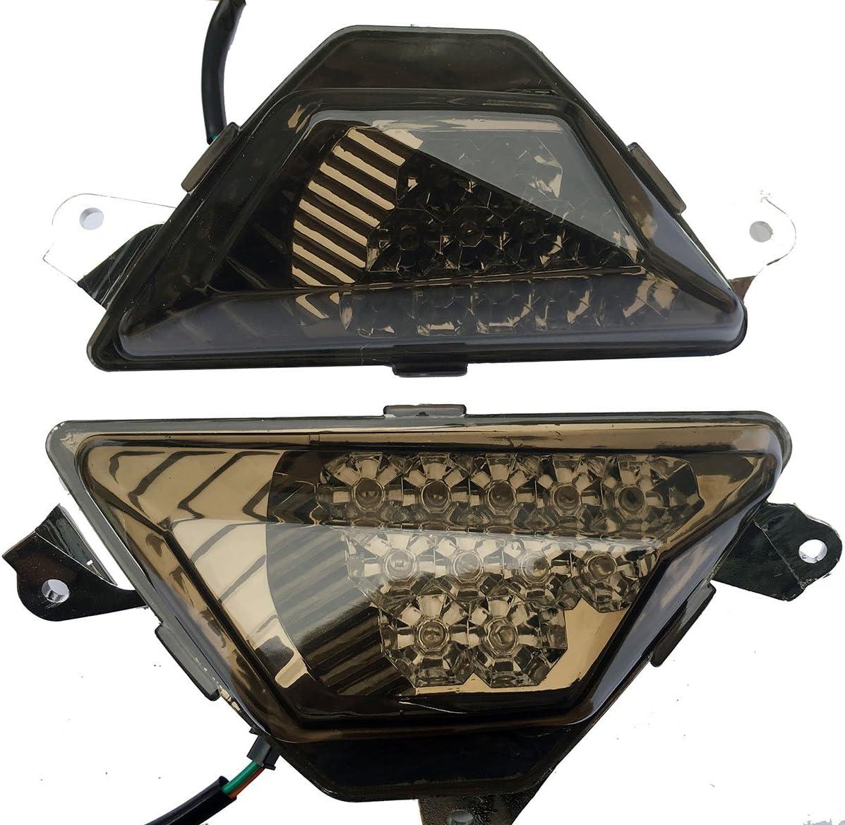 Front Smoke LED Turn Signal Lights Blinkers Indicators for 2016 Kawasaki Ninja 650 EX650 ABS