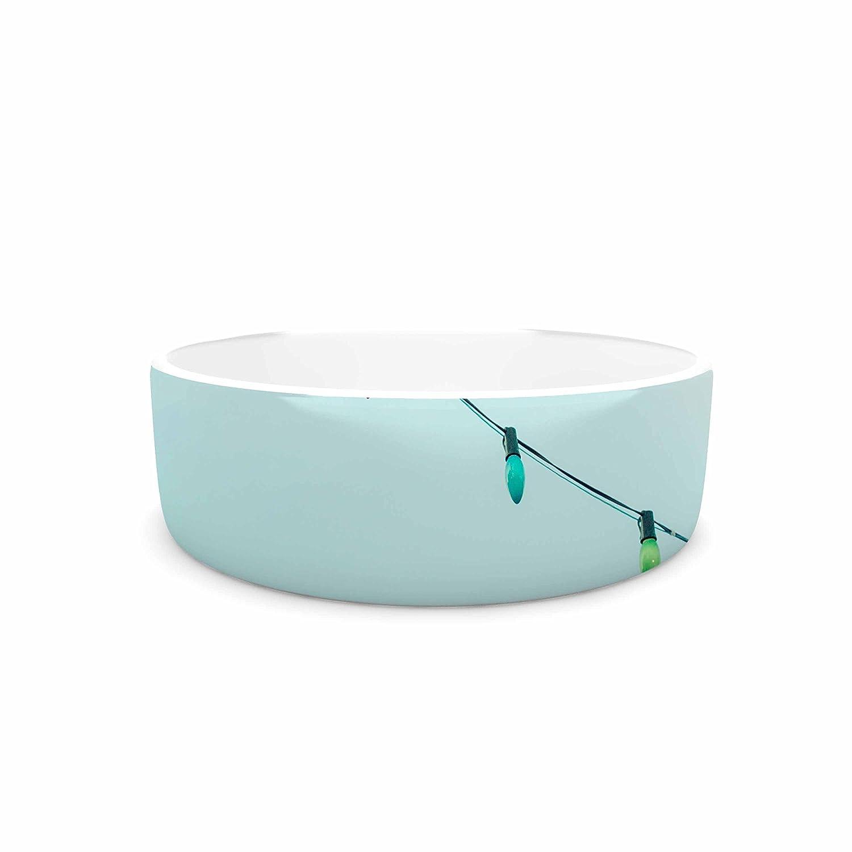 7\ KESS InHouse Ann Barnes Dream a Little Dream  bluee Vintage Pet Bowl, 7