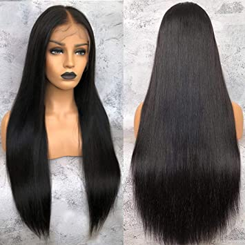 Hair Extensions & Wigs Lace Wigs 150 Density Straight Lace Front Human Hair Wigs Glueless Brazilian Wig With Baby Hair Full End Non Remy 1b/orange Ombre Wigs