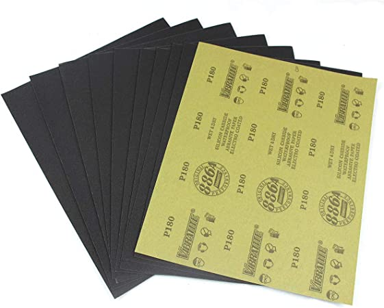 "Wet Dry Waterproof 240 Grit Sandpaper Sheet Abrasive Sanding Kraft Paper 9x11/"""