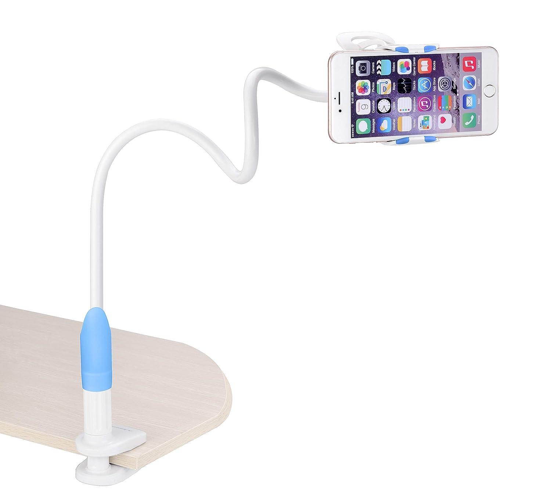 Avantree Cell Phone Clip Holder, Gooseneck Clamp Universal Lazy Mount Flexible Long Arm Bracket for 3.5-6.3 Phones Mobile Stand for...