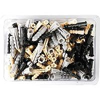 Cogeex 85336 kunststof pluggen gesorteerd, grijs/zwart/geel, 200 stuks