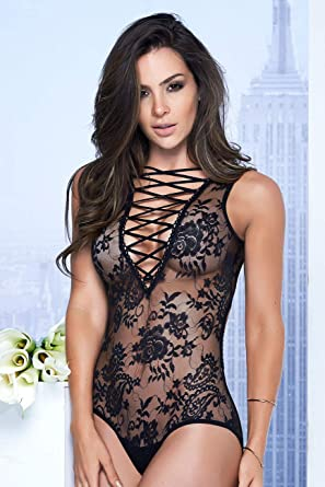 Mapalé 7107 Sexy Lingerie Strappy Lace Teddy Bodysuit Women Ropa Interior Mujer