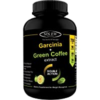 Sinew Nutrition Weight Management Combo 750mg - 90 Count (Garcinia Cambogia and Green Coffee Bean Extract)