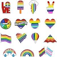 Yueser Regenboogbroche, 15 stuks regenboog-emaillen pins, spelden LGBT Pride regenboogbroches regenboogvlag broches voor…