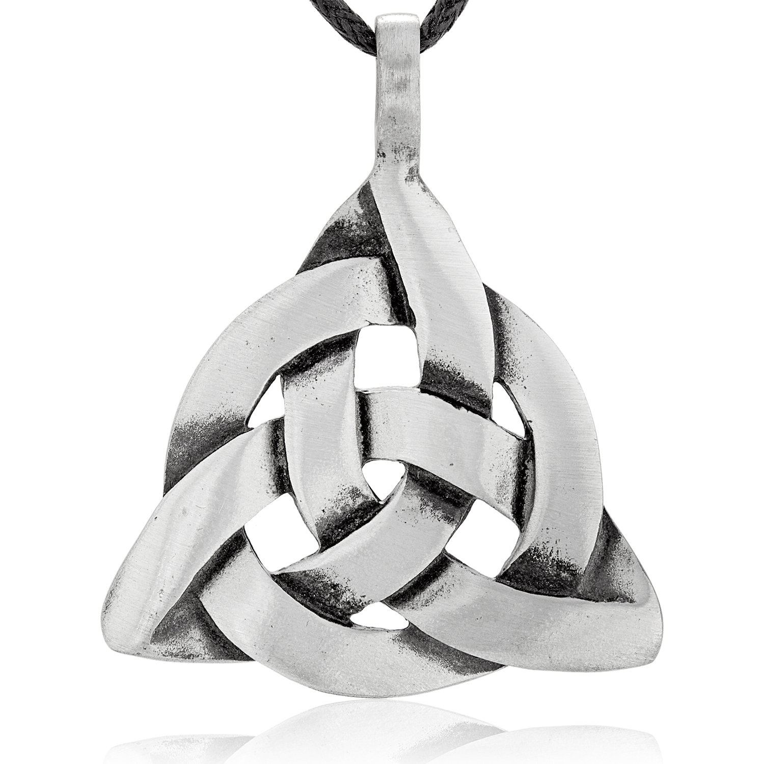 Dan's Jewelers Celtic Trinity Knot Pendant Necklace + Silver Plated Clasp, Fine Pewter Jewelry
