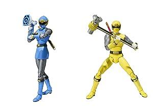Bandai Tamashii Nations S.H. Figuarts Blue & Yellow Wind Ranger Set Power Rangers Ninja Storm Action Figure
