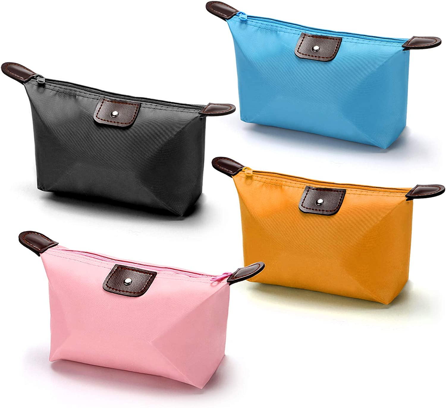 Makeup Bags for Purse Travel Waterproof Mini Zipper Cosmetic Bag for Women Girls, Portable Daily Storage Organizer Toiletry Pouch, Luggage Accessories for Travel