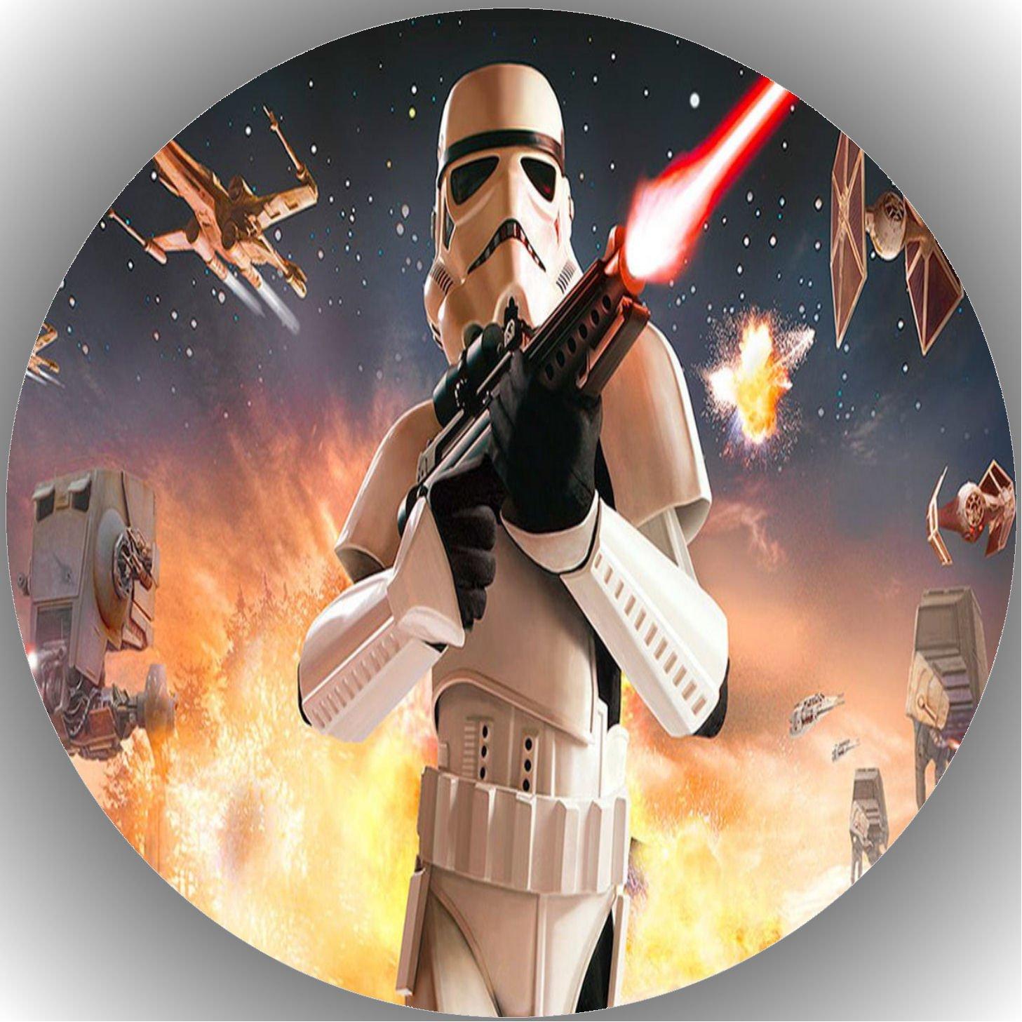 1 Fondant Tortenaufleger Geburtstag  Star Wars  T15
