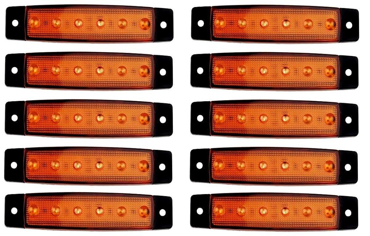10/x 24/V SMD 6/LED Naranja /ámbar Side Outline marcador luces posici/ón cami/ón trailer chasis cami/ón