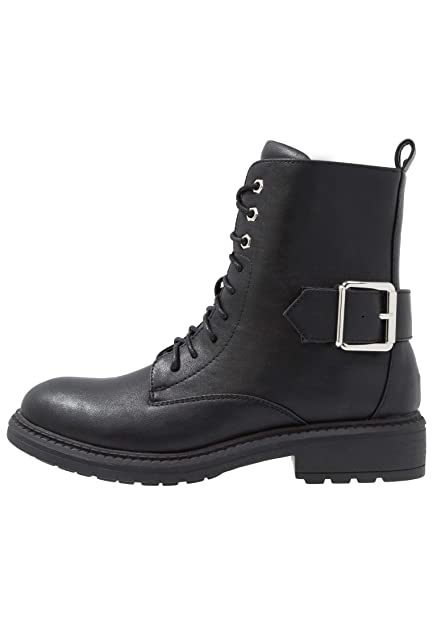 1bf363c4c0d Even ODD Faux Leather Combat Boots for Women - Casual Lace-Up Ankle Boots  in Black