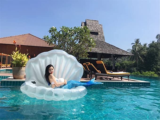 Cuento hinchable Piscina Pool de concha nadar juguete hinchable: Amazon.es: Hogar