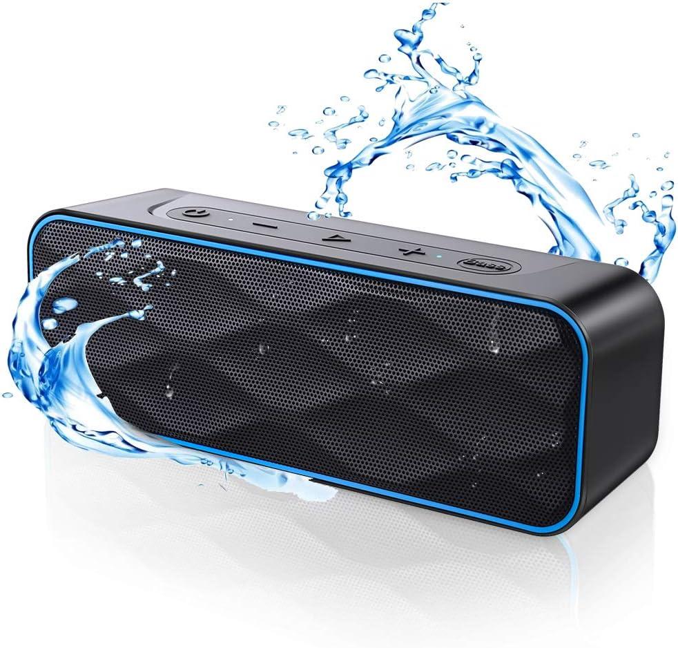 Bluetooth スピーカー ワイヤレススピーカー IPX7防水 高音質重低音 大音量 ブルートゥーススピーカー 36時間連続再生 Type-C充電 20W高出力 スマホスピーカー TWS対応 内蔵マイク ポータブル アウトドア お風呂 ステレオ (ブラック) ZoeeTree