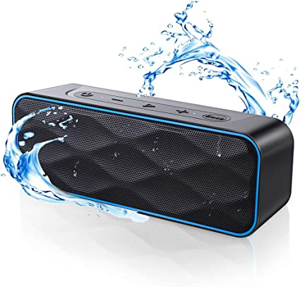 Waterproof Bluetooth Speaker, ZoeeTree S8Pro Speaker Bluetooth Wireless  with Strong Bass & 8W HD Sound, Bluetooth Speakers with 8Hours, 800Ft