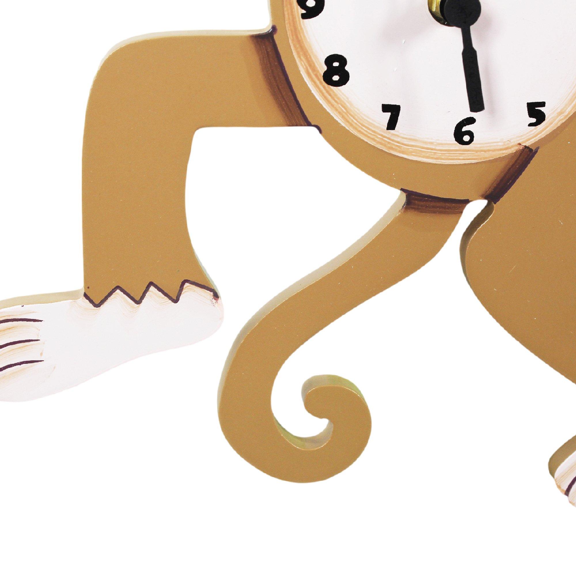 Fantasy Fields Sunny Safari Kids Wall Clock, Brown/Monkey by Fantasy Fields (Image #6)