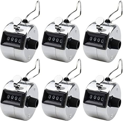 USA SHIP WHITE Handheld Sports TALLY COUNTERS CLICKERS