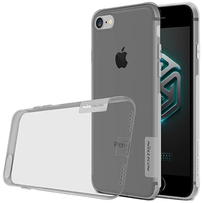 Nillkin Nature - Carcasa protectora antideslizante de gel / TPU para Apple iPhone 7 / 8 - Gris