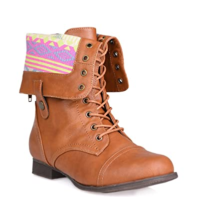 20182017 Boots Twisted Womens Foldover Cuff Wide Width Wide Calf Zip Combat Boot with Side Snaps Online