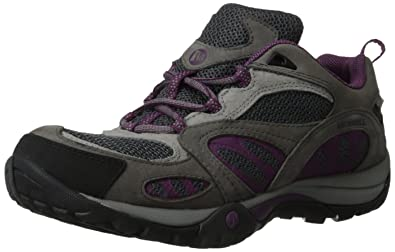 Women's Merrell Azura Waterproof Wide Hiking Shoes Castlerock/Purple X53k8808