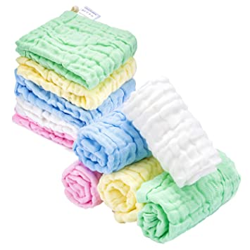 Amazon.com: Kyapoo - Toallas de muselina para bebé, extra ...
