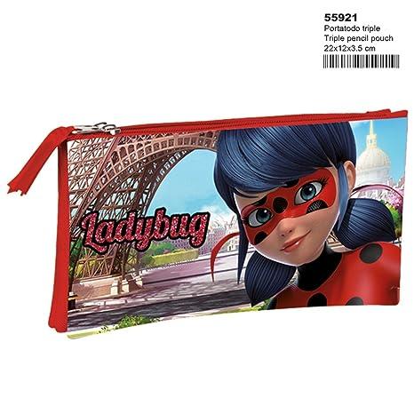 Montichelvo Ladybug Amour - Estuche portatodo Triple (Perona ...