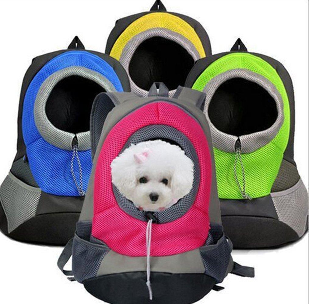 toplikes Mochila para Mascota, Perro, Gato, Cachorro, Portátil, con Malla Transpirable y Acolchada, Bandolera Delantera Acolchada para Bicicleta, ...
