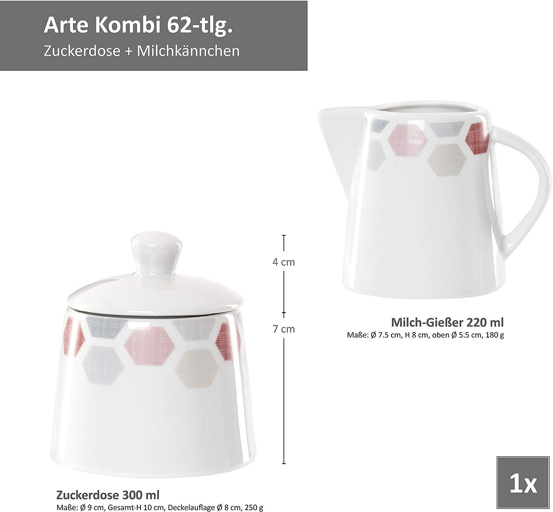 Kombiservice Arte 62-tlg.