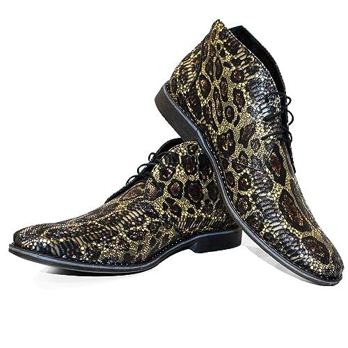 842d4d206 Modello Tarroka - Cuero Italiano Hecho A Mano Hombre Piel Vistoso Chukka  Botas Botines - Cuero Cuero Repujado - Encaje  Amazon.es  Zapatos y  complementos