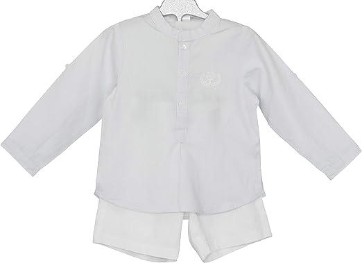 PETIT ALO Conjunto bebé pantalón Bermuda y Camisa: Amazon.es ...
