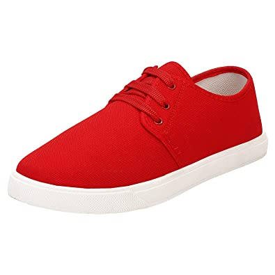 c5ec2aa5 Birde Men Canvas Red Sneakers Casual Shoes for Men & Boys: Buy ...