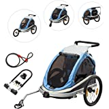 Bike Trailer Baby Stroller Jogger - Via Velo 640001(2017 New Design)High Visibility Bicycle Trailer including Jogger and stroller kit with U LOCK WITH CABLE FREE OF CHARGE
