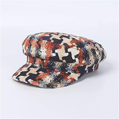 Tellusa Autumn Winter Camouflage Newsboy Cap for Women Casual Winter Hats Military Cap Gorras Mujer Blue