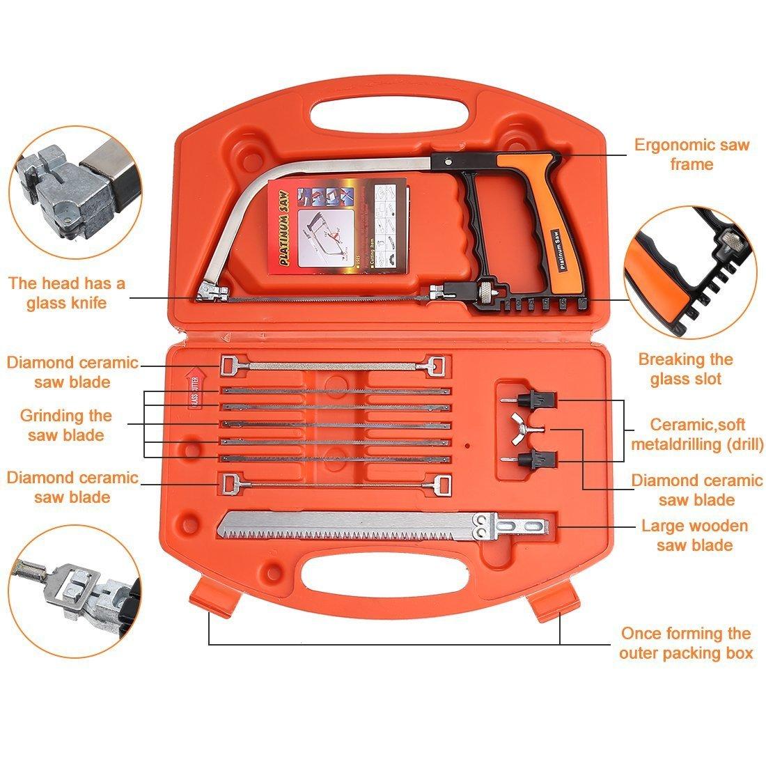 Handsaws Set, Four Fold Ruler, Multifunction Bow Saw +Angle Measuring Ruler for Engineer Handymen Builders Craftsmen by SILIVN by SILIVN (Image #3)