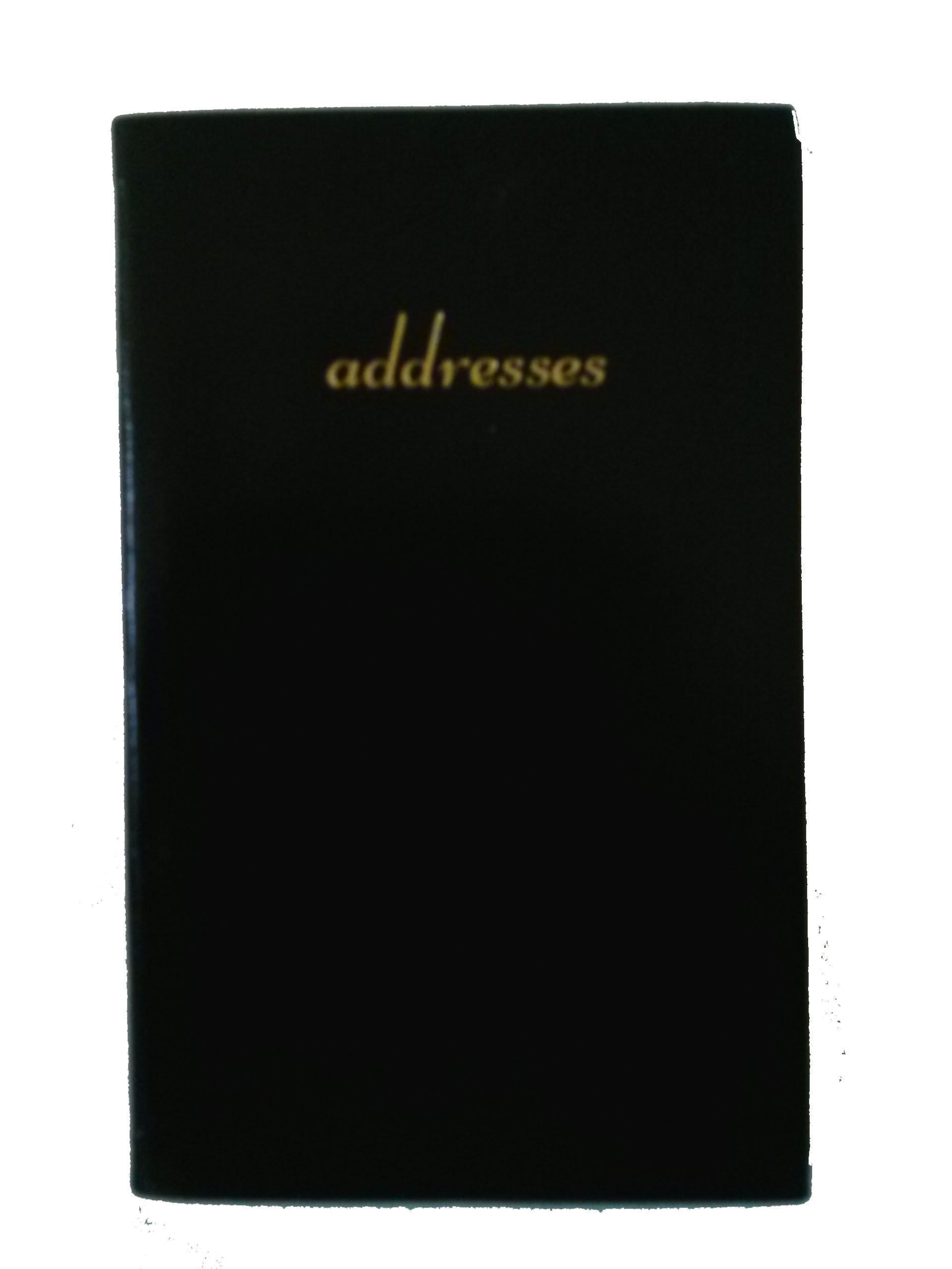 Charing Cross A53S 5'' X 3'' Address Book Black Simulated Leather