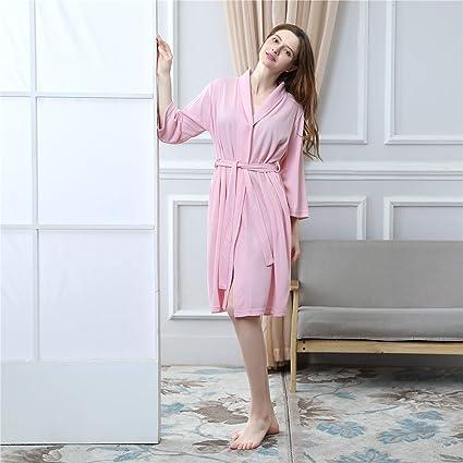 Vestidos para Hombres Batas Amantes Pijamas Ropa de Dormir Damas Ligeras Jersey de algodón Vestidos para